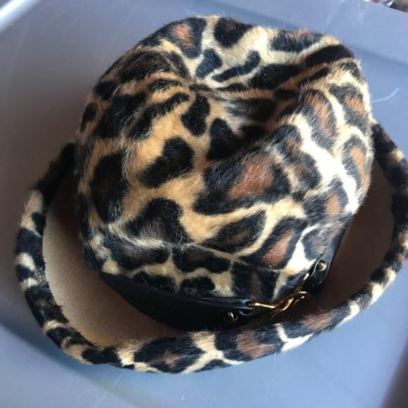 e902358c9f8 Yves Saint Laurent Accessories | Ysl Vintage Cheetah Fedora Hat ...